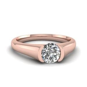 Semi Bezel Set Solitaire Ring