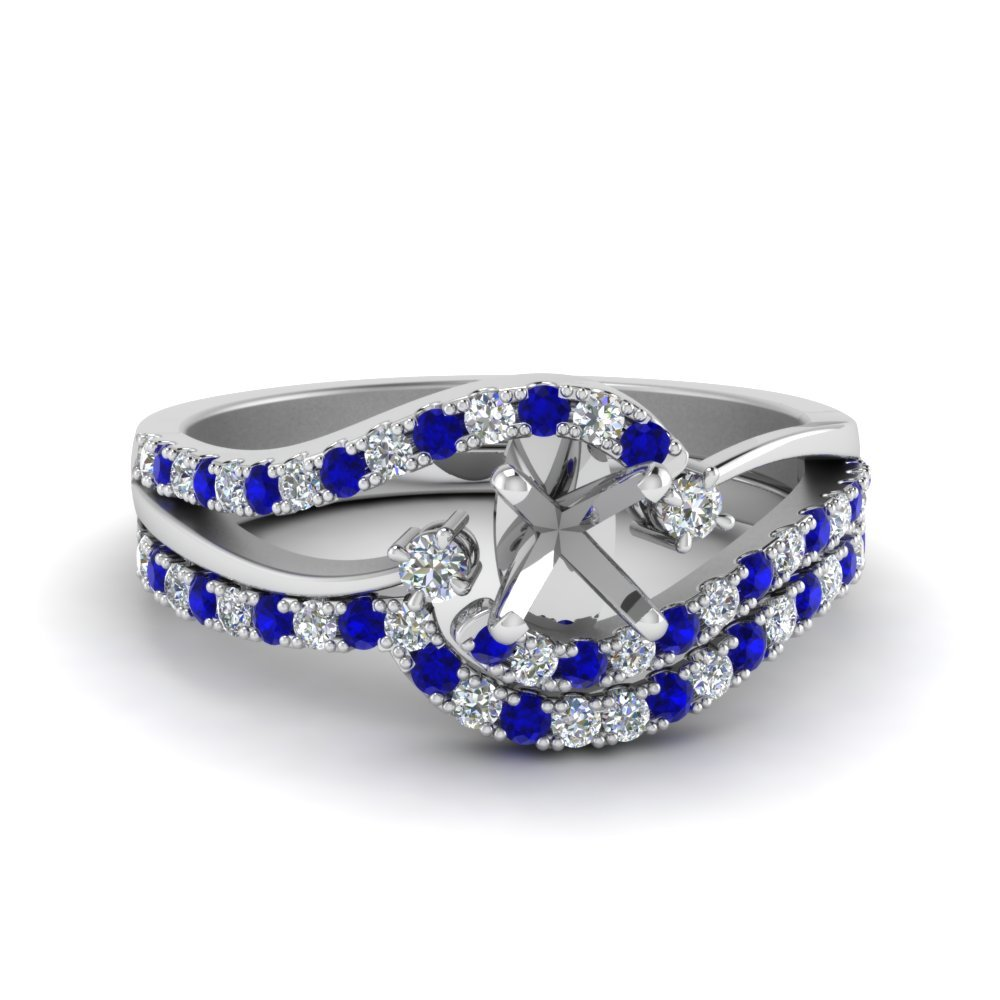 Sapphire Wedding Ring Settings Only