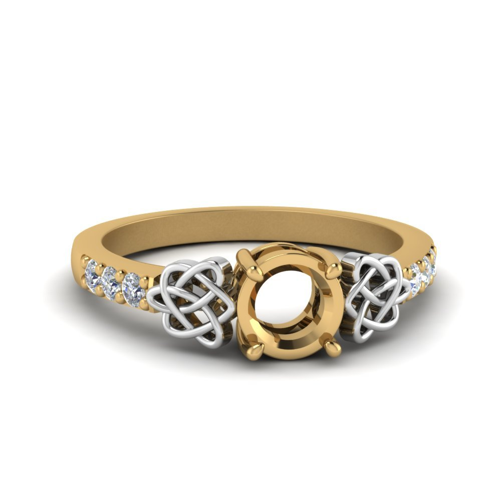 Semi Mount Celtic Diamond Ring