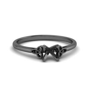 18k Black Gold Celtic Ring Setting