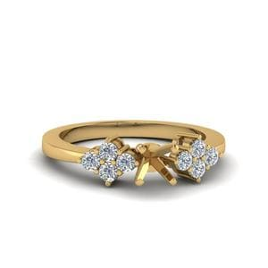 Yellow Gold Cluster Ring Setting
