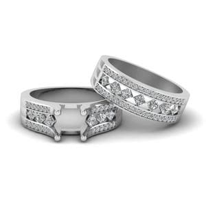 Platinum Semi Mount Bridal Set