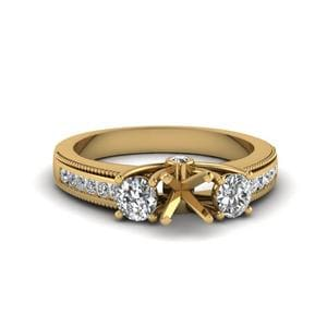 Side Stone Engagement Ring Settings