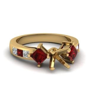 Ruby Side Stone Ring Setting