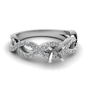 Platinum Infinity Ring Setting