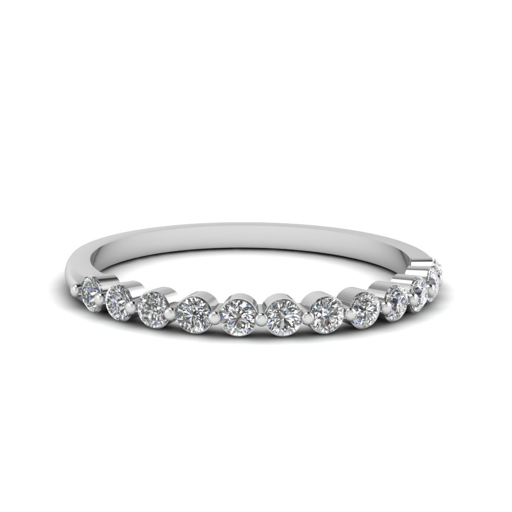 Shared Prong Diamond Band For Women