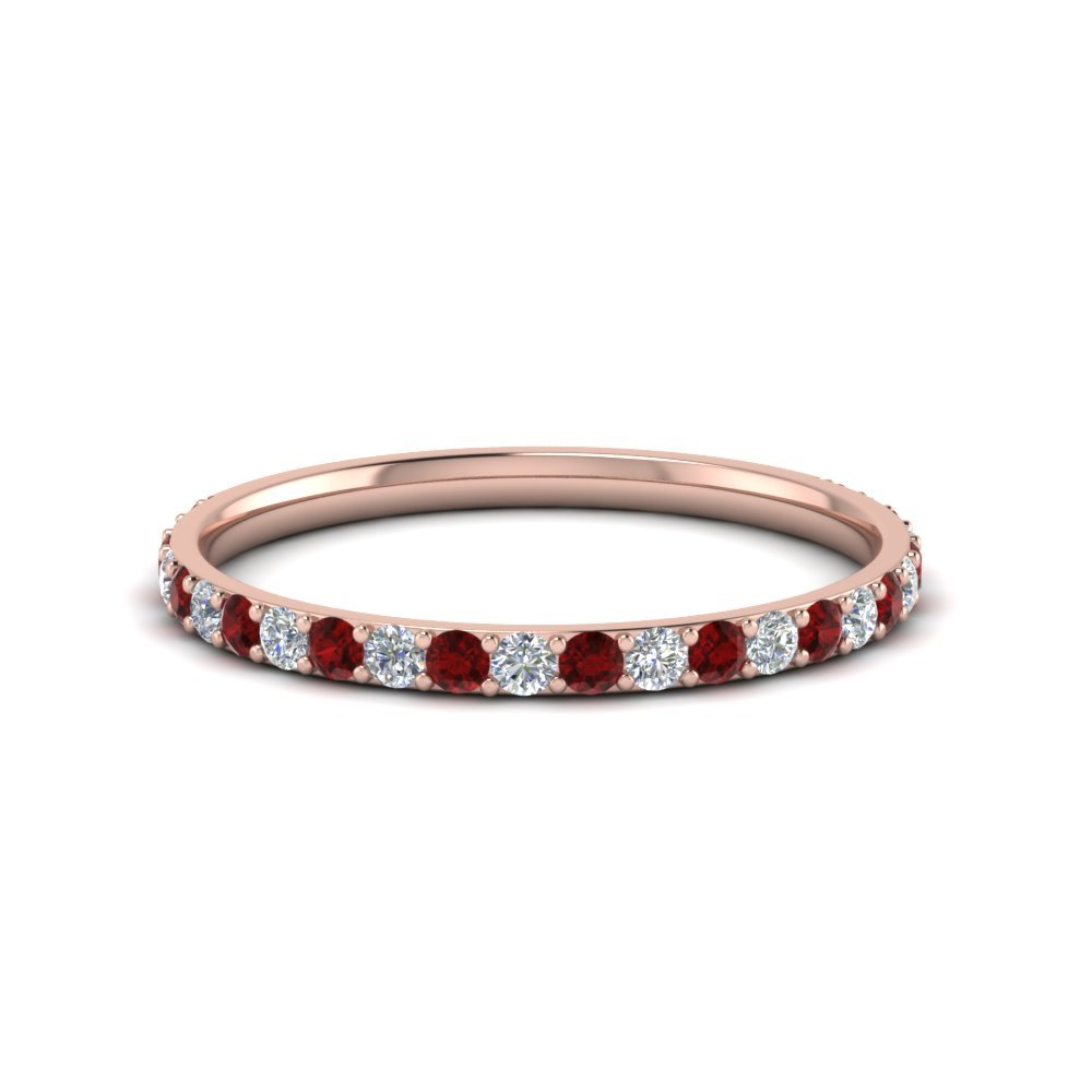 Ruby Simple Diamond Band