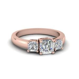 1 Ct. Asscher Cut Diamond Engagement Rings