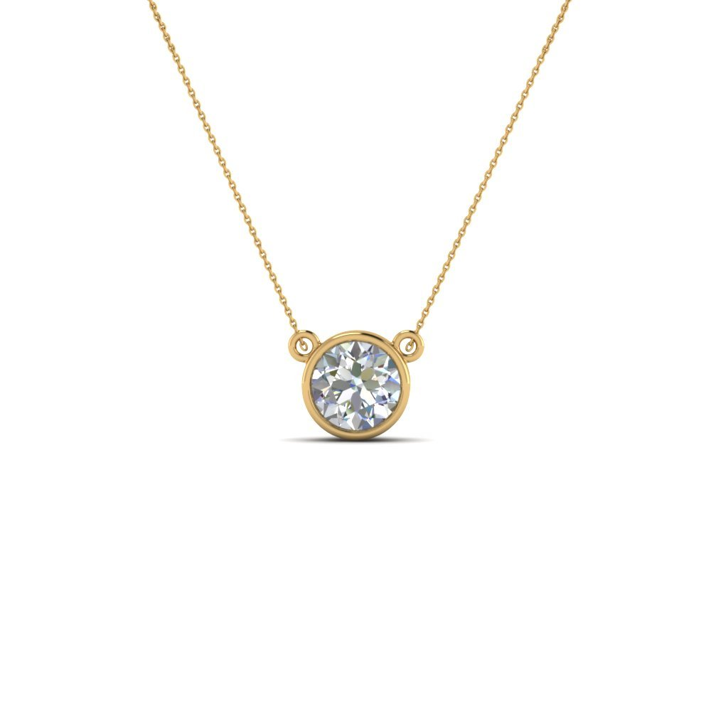 Single Bezel Set Diamond Pendant