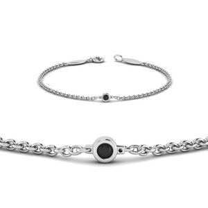 Black Diamond Chain Bracelet