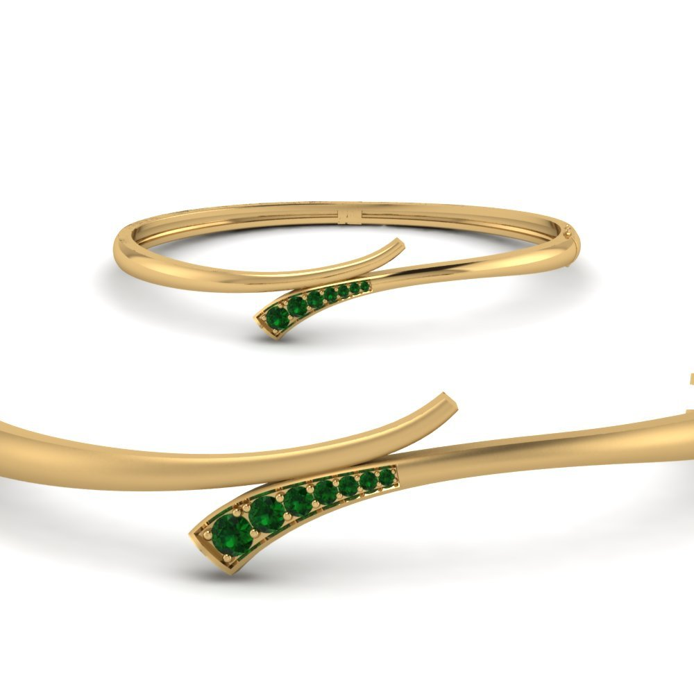 Emerald Swirl Bracelet Bangle