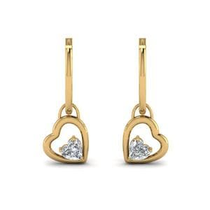 Hoop Heart Drop Earring