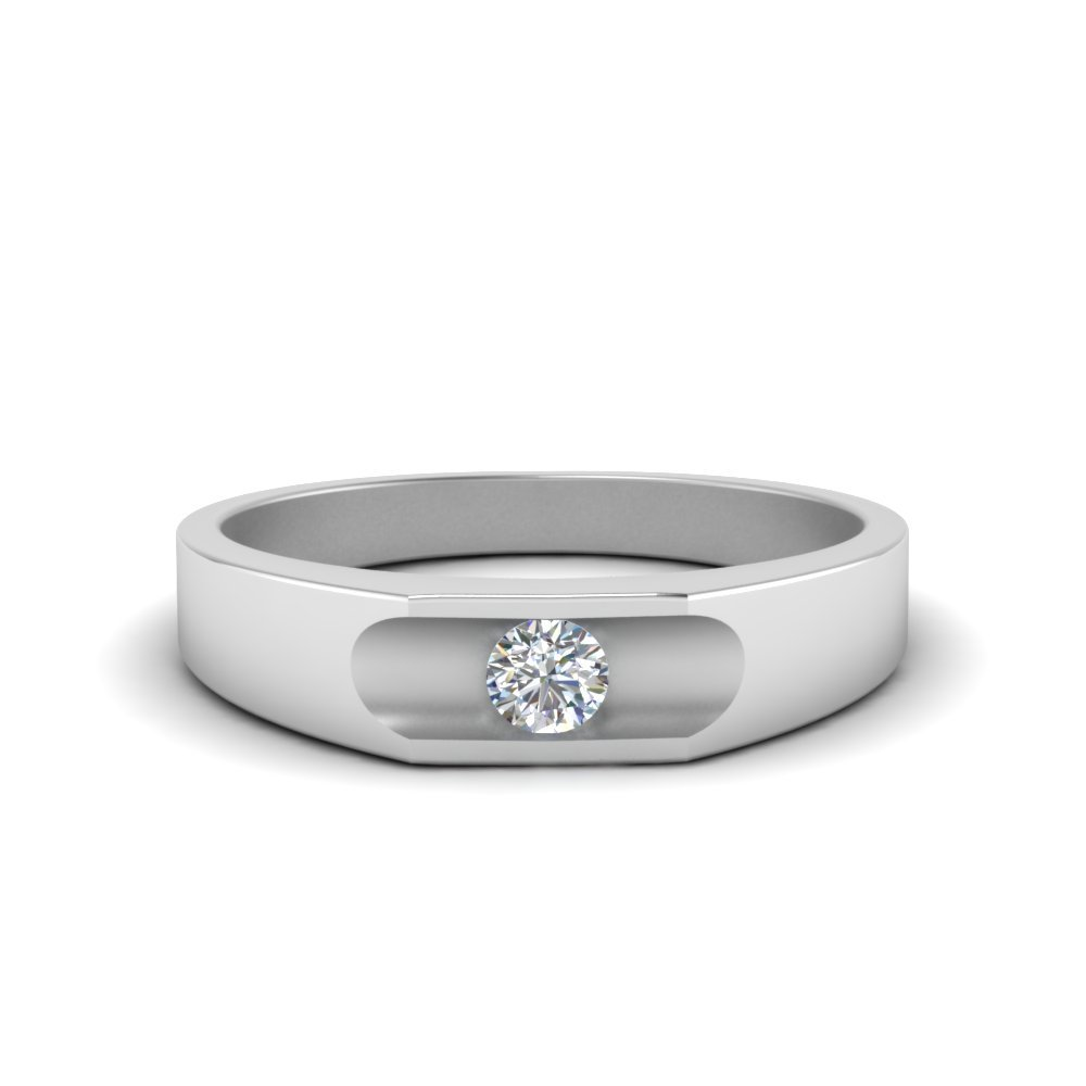 Solitaire Mens Wedding Engagement Band