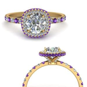 Hidden Halo Purple Topaz Ring