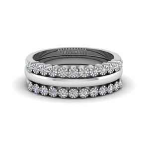 18K White Gold Stackable Diamond Ring