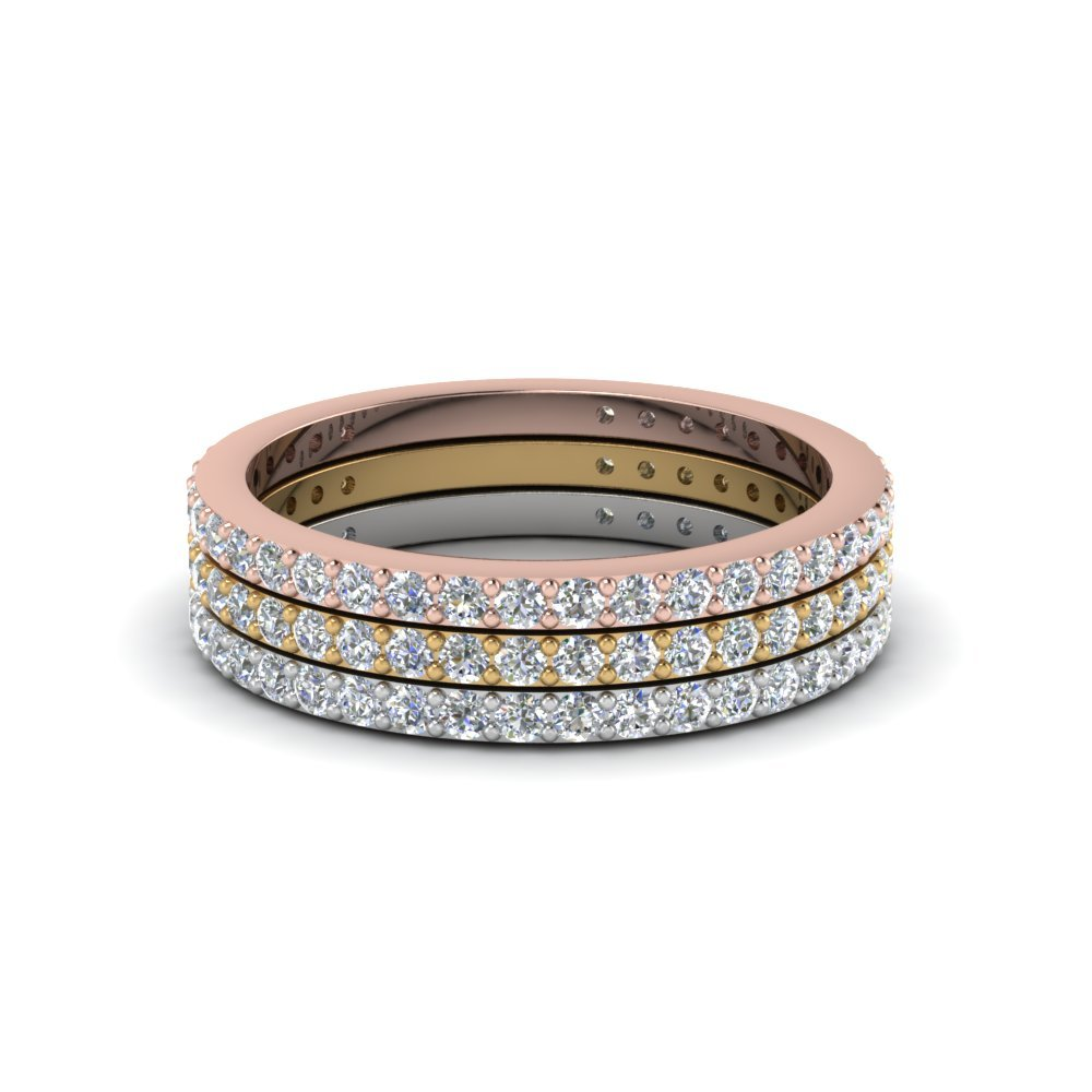 Stackable Eternity Diamond Gold Anniversary Band