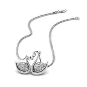 Swan Design Mothers Necklace
