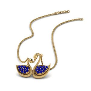 Swan Design Necklace Gift