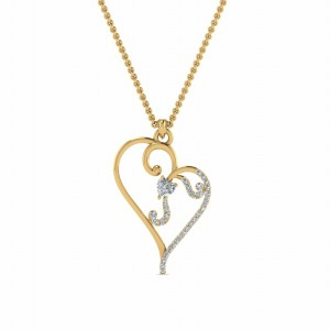 Swirl Heart Pendants For Womens