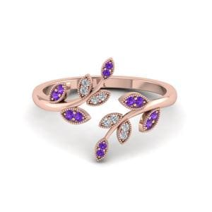 Nature Themed Purple Topaz Ring