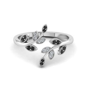 Milgrain Black Diamond Ring