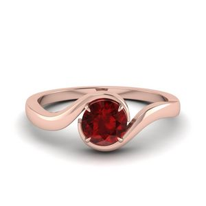 Swirl Ruby Solitaire Ring Gift