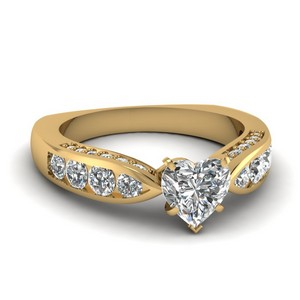 Heart Shaped Diamond Vintage Ring