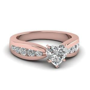 Tapered Channel Set Diamond Engagement Ring