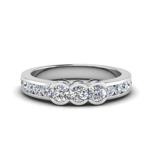 0.70 Carat Three Stone Diamond Band