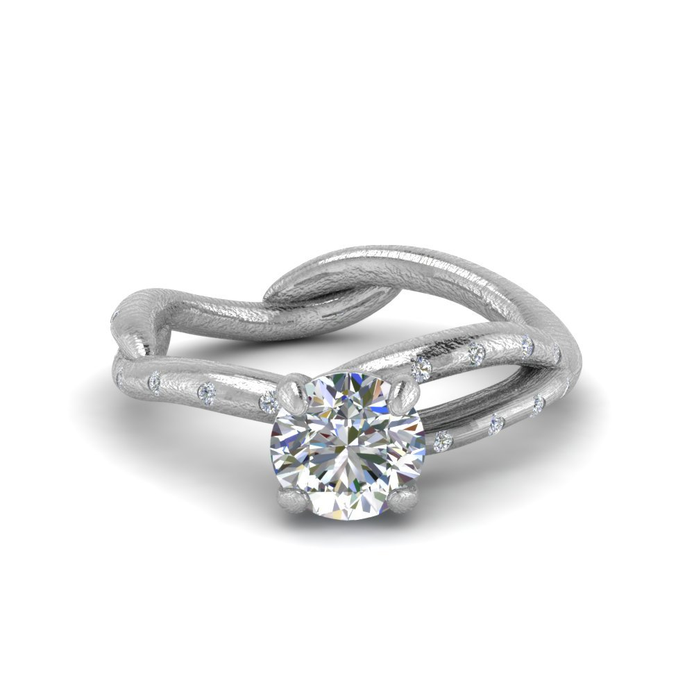Tree Branch Round Diamond Ring