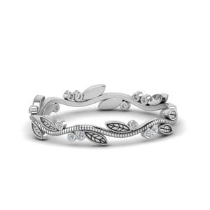 Tree Branch Ring Diamond In 14K White Gold