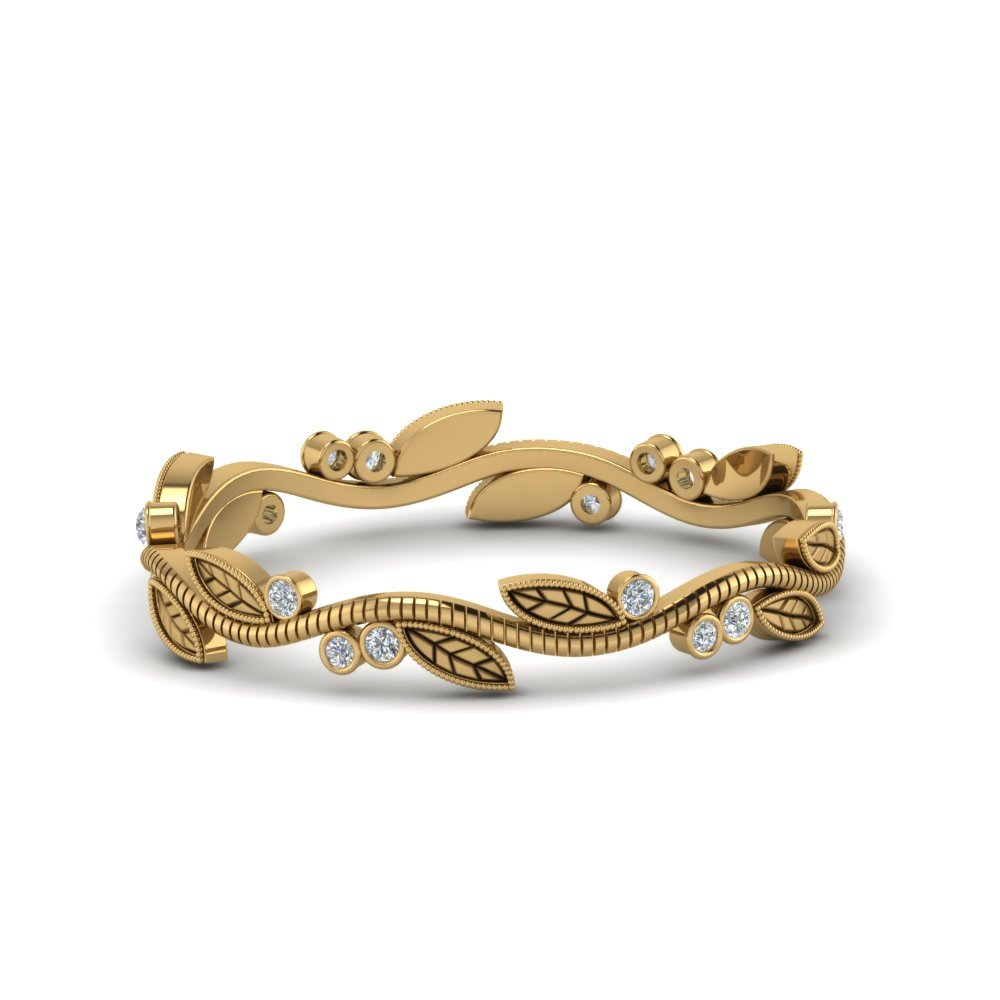 Tree Branch Ring Diamond In 18K Yellow Gold