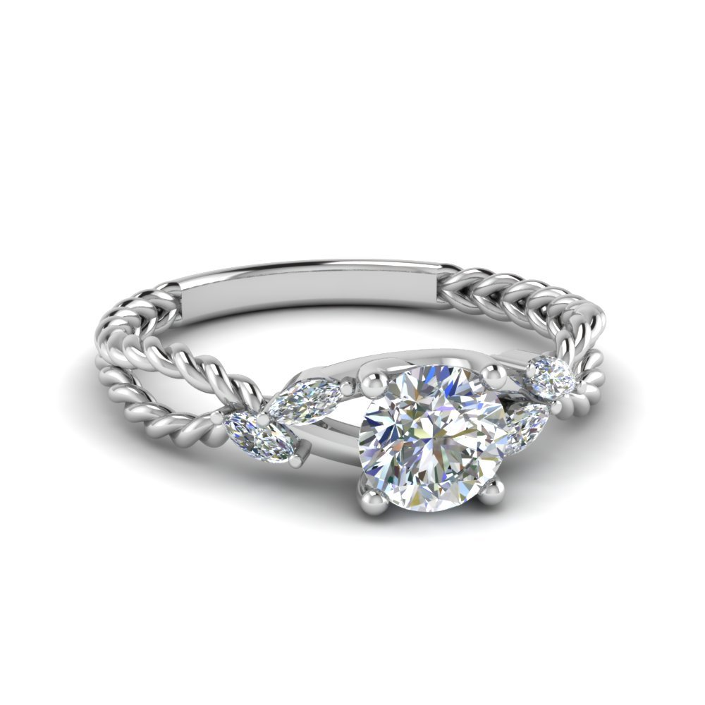 Trellis Round Bud Diamond Ring