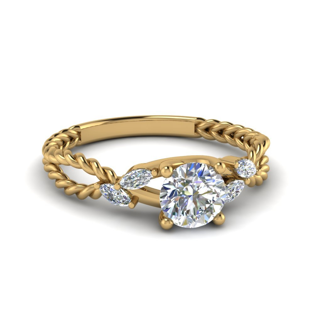 Trellis Round Diamond Engagement Ring