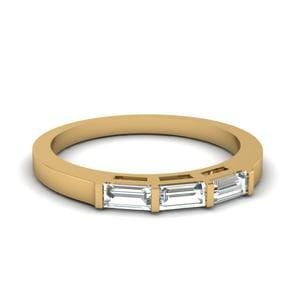 3 Baguette Wedding Band