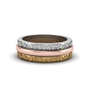Filigree Stackable Gold Ring