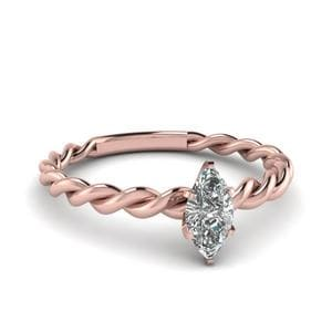 Twist Marquise Single Diamond Ring