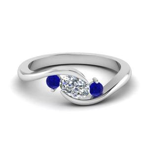 Twist 3 Stone Engagement Ring
