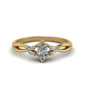 Matching Twisted Petal Diamond Ring