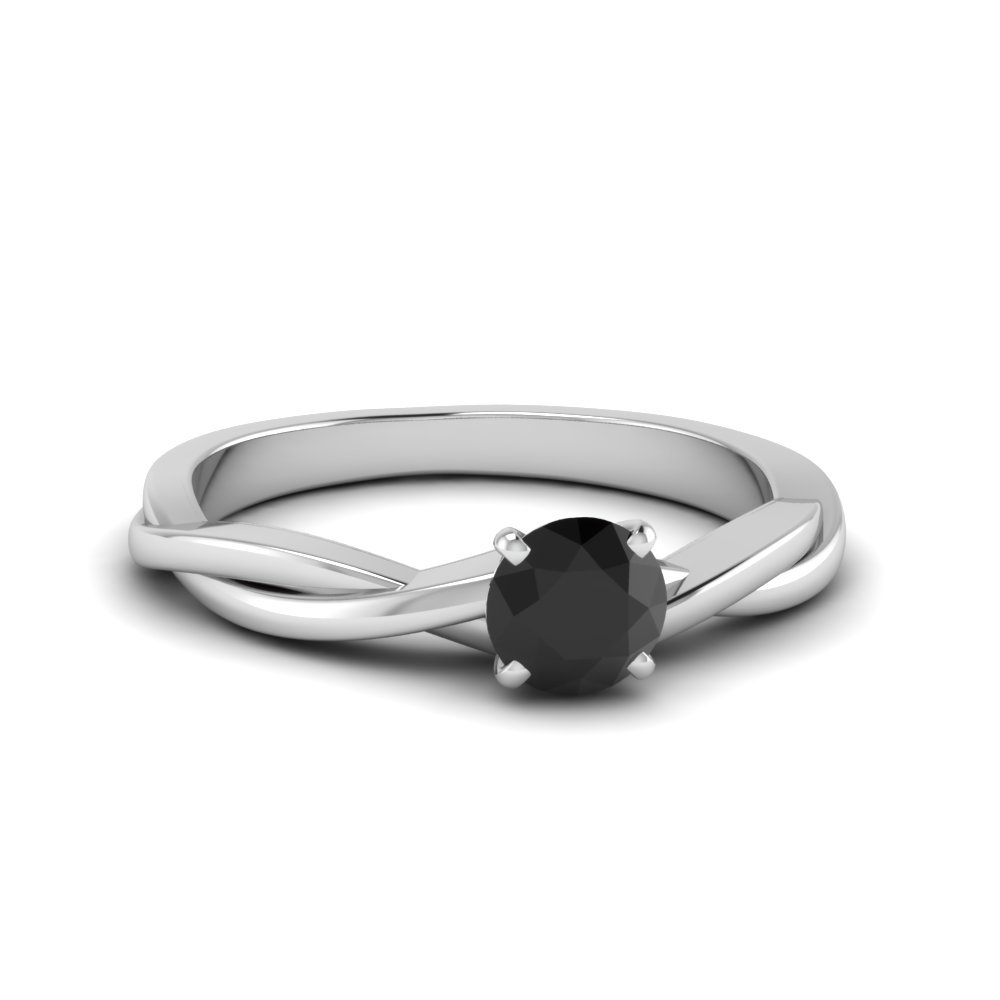 Twisted Solitaire Gemstone Ring