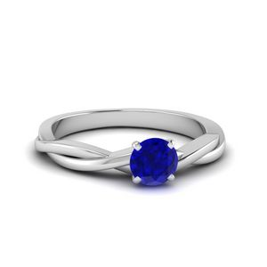 Twisted Sapphire Engagement Ring