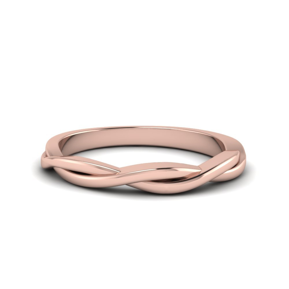 Twisted Vine Band In 14K Rose Gold