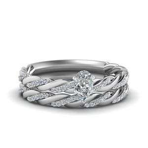 Twisted Vine Bridal Ring Set