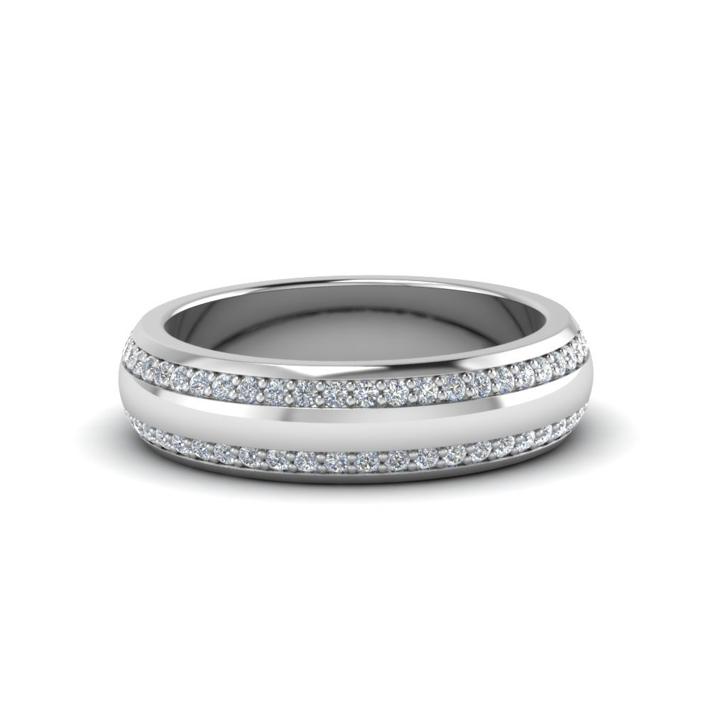 Two Row Male Diamond Eternity Band