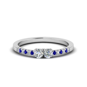 Affordable Two Stone Sapphire Ring