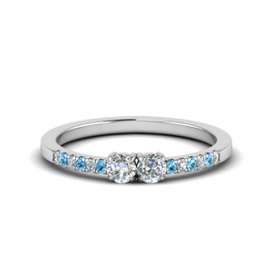 Blue Topaz Cheap Two Stone Ring