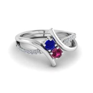 Two Stone Sapphire Ring