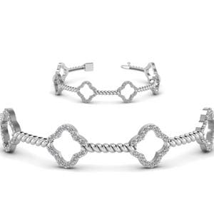 Twist Diamond Bracelet For Women