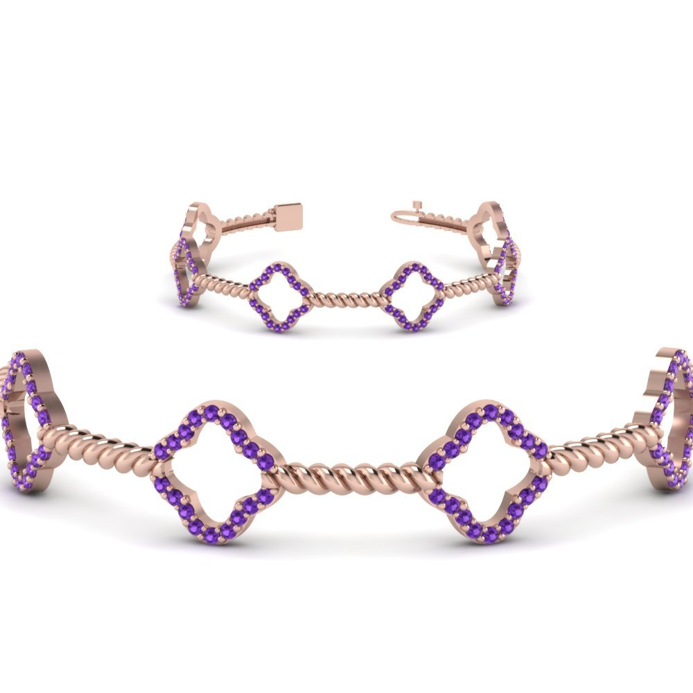 Twist Purple Topaz Bracelet For Women