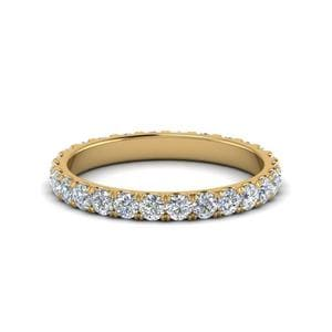 One Carat U Prong Round Eternity Band